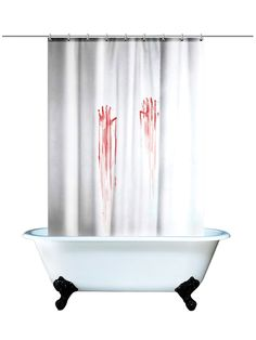 Blood Bath Shower Curtain (White/Red)