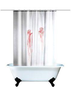 Blood Bath Shower Curtain (White/Red)