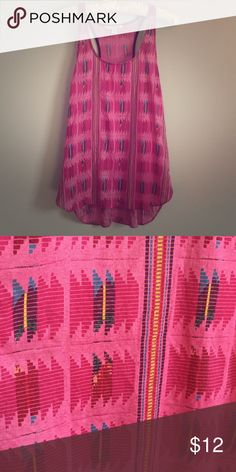 American Eagle Geometric Tribal Racerback Tank This is longer in the back slightly. 100% viscose. Machine wash cold. In great condition. American Eagle Outfitters Tops Tank Tops