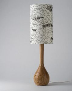 Hand Turned Lamp & Shade douglas and bec