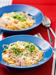 Kinkku-carbonara | Pastaruoat | Pirkka #food #pasta
