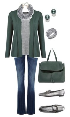 """""""Untitled #221"""" by gdhlady on Polyvore featuring Lee, rag & bone, Lygia & Nanny, Kenneth Jay Lane, Mansur Gavriel, Mikimoto and Alexander McQueen"""