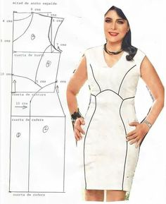 Dress plus size - Salvabrani Plus Size Patterns, Easy Sewing Patterns, Clothing Patterns, Dress Patterns, Model Outfits, Pattern Cutting, Pattern Making, Fashion Sewing, Sewing Techniques