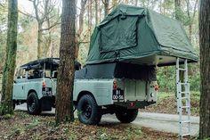 1982 Land Rover Series 3 + Camping Trailer – Men's Gear