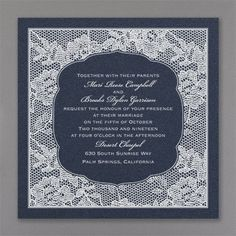 Floral lace gets even more romantic when it's printed in your choice of ink or foil color on this slate wedding invitation. Discount Wedding Invitations, Handmade Invitations, Black Wedding Invitations, Custom Invitations, Wedding Stationery, Slate Wedding, Home Wedding, Chic Wedding, Flower Invitation
