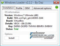 Descargar Windows 7 Loader v2.2.2 by Daz [x86 – x64] [Activador de Windows 7]