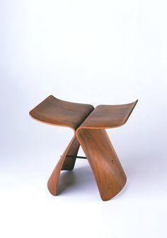 Butterfly Stool, 1954  Sori Yanagi  wood and metal, 15 1/2 in. x 16 3/4 in. x 12 1/2 in. (39.37 cm x 42.55 cm x 31.75 cm)