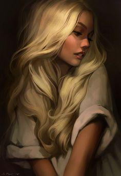 Mor [Golden hair by Tsvetka on DeviantArt] Reminds me of aelin from throne of glass A Court Of Mist And Fury, Throne Of Glass Series, Art Anime, Digital Art Girl, Fantasy Girl, Anime Fantasy, Amazing Art, Illustration Art, Beauty