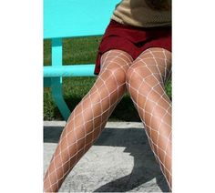 We Heart Colors :: White Sale :: Gorgeous!! White Diamondnet Fishnet Hosiery