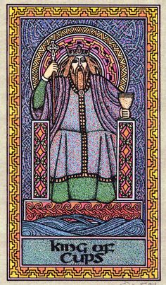 King of Cups - Celtic Tarot byCourtney Davis & Helena Paterson
