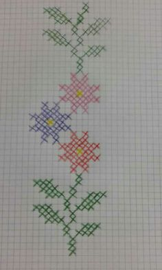 Cross Stitch Beginner, Tiny Cross Stitch, Xmas Cross Stitch, Cross Stitch Bookmarks, Cross Stitch Borders, Cross Stitch Flowers, Cross Stitching, Cross Stitch Patterns, Hand Embroidery Stitches