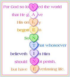 Valentine true love John 3:16