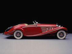 1935 Mercedes Benz 540K  Spezial Roadster Negro sería mejor, pero lo queremos igual.