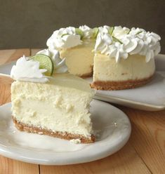 The cheesecake tastes perfect. It's creamy, but not wet; tart, but not sour. It's a good key lime cheesecake with a lemon glaze topping.