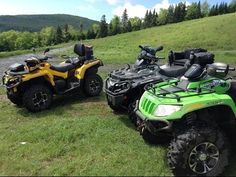 ATV riding on the Ride The Wilds Trail System in New Hampshire - YouTube