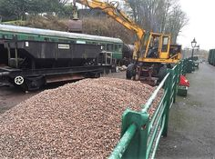 Ballast delivery for the track extension of the Somerset and Dorset Railway - Dogfish hopper wagon
