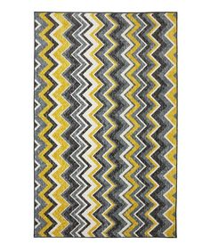 Yellow Ziggidy Rug | Daily deals for moms, babies and kids