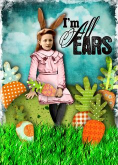"By glitterbug for Hidden Vintage Studios at Deviant Scrap ""I'm All Ears"" kit"