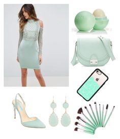 """""""Minty green 2"""" by fionabrown1 ❤ liked on Polyvore featuring ASOS, Betsey Johnson, Eos, Kenneth Jay Lane, Loeffler Randall and Casetify"""