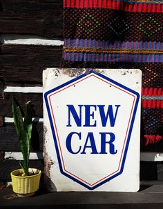 Vintage Pontiac Sign New Car Dealership Automobilia by harbor17