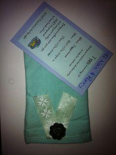 Slumber party pillowcase invite