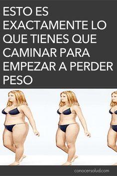 Esto es exactamente lo que tienes que caminar para empezar a perder peso - Conocer Salud