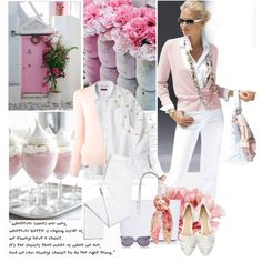 """""""Pink and White"""" by youaresofashion on Polyvore"""