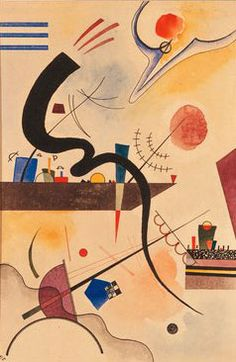 Painter Wassily Kandinsky. Painting. Calm Bend. 1924 year