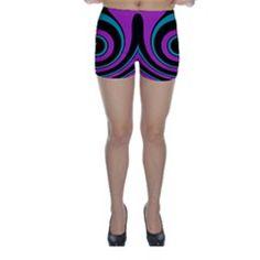 Distorted concentric circles Skinny Shorts by LalyLauraFLM Skinny Shorts, Stockings, Circles, Design, Fashion, Socks, Moda, Fashion Styles