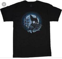 e70263917 Big And Tall T Shirts, Moon Shirt, Wolf T Shirt, Wolf Howling,