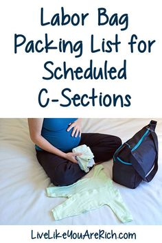 Labor Bag Packing List for Scheduled C-Sections