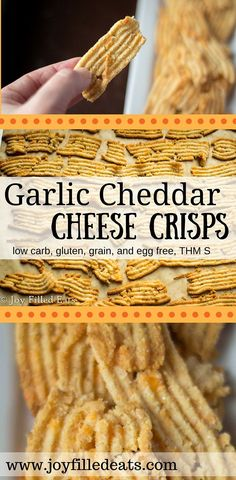 Low Carb Cheddar Garlic Cheese Crisps & Crackers - Joy Filled Eats