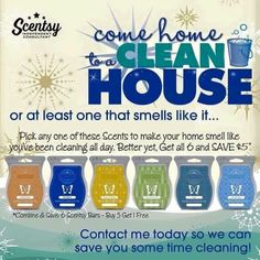 Come home to a clean house, or at least one that smells like it. Turn on your Scentsy warmer and soon, it will smell like you've been cleaning all day. #scentsbykris #springcleaning #cleaninghack