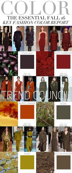 FASHION VIGNETTE: TRENDS // TREND COUNCIL - WOMENS FALL 16 KEY FASHION COLOR REPORT