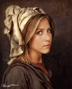 "Celebrities painted into ""Classic"" Paintings - Jennifer Aniston    There are a ton!  Kind of fun to thumb through."