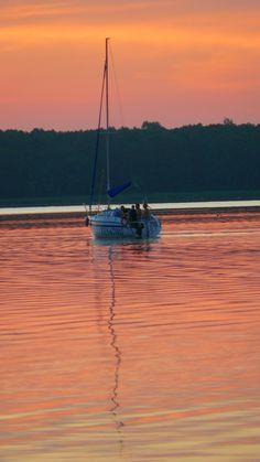 Sunset, Slawskie Lake (POLAND)