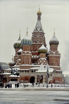 St. Basil's Cathedral - #Moscow #thc. This is so beautiful in person I want to take Greg and girls one day