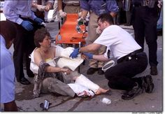 9/11 triage. Our First Responders get there as fast as is humanly possible, and they to work immediately. Gotta love 'em