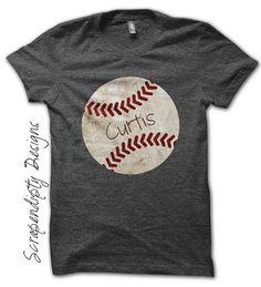 Iron on Baseball Shirt PDF - Sports Iron on Transfer / Customized Baseball Tshirt / Toddler Boys Sports Outfit / Digital Printable by ScrapendipityDesigns, $4.50