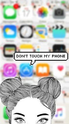 Don't touch my phone / tela de bloqueio ❤️