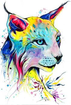 Impresión del arte Lince por PixieColdArt en Etsy