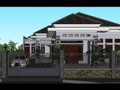 Modern Bungalow House, Facade House, House Facades, Roof Trusses, Cool House Designs, Exterior Colors, Home Fashion, Home Interior Design, House Plans