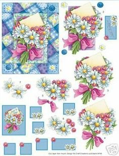 LAMINAS... Y TRABAJOS CON FLORES | Aprender manualidades es facilisimo.com Decoupage Vintage, Birth Flower Tattoos, Decopage, Decoupage Printables, 3d Sheets, 3d Cards, Cards Diy, 3d Paper Crafts, 3d Prints