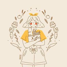 'Bring your own bag. I loved the time when we stayed near because I get access to fresh food by walking distance! I missed… Character Art, Character Design, Anime Art Girl, Cute Illustration, Aesthetic Art, Cute Drawings, Doodle Art, Cute Art, Art Inspo