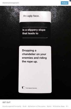 That time Cards Against Humanity got a little too real. 23 Times The Musical Theater Side Of Tumb Broadway Theatre, Musical Theatre, Broadway Shows, Musicals Broadway, It's Over Now, Sneak Attack, Music Of The Night, Theatre Nerds, Theatre Jokes