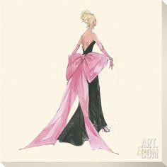 Barbie™, Big Pink Bow Stretched Canvas Print at Art.com
