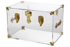 Payton Trunk, Clear/Brass on OneKingsLane.com