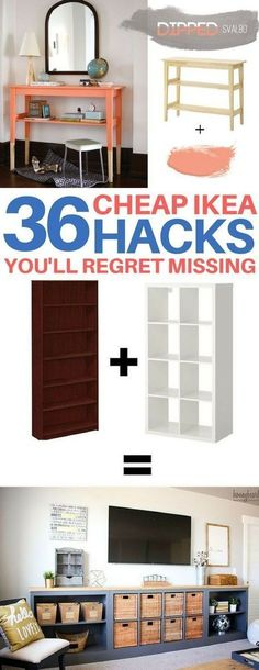 BRILLIANT Ikea hacks you have to see to believe! Cheap & easy ikea hacks, diy home decor, diy room decor, living room ideas, bedroom ideas, kitchen ideas #cheaphomedecor