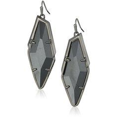 Amazon.com: Kendra Scott Bexley Hematite Gray Hematite Drop Earrings:... ($162) ❤ liked on Polyvore featuring jewelry, earrings, kendra scott earrings, grey jewelry, hematite earrings, gray jewelry and kendra scott jewelry