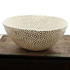 bowl:  reminds me of a starry night